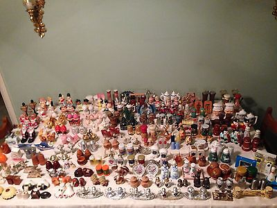 Vintage 175 Salt And Pepper Shaker Collection Lot Worldwide - 1940s And On