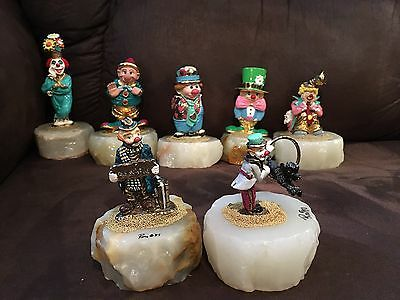 Ron Lee Clown's Lot Of 7  All In New Condition