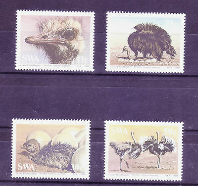 South West Africa (SWA) 1985 -    Ostriches - Full set of 4 MNH
