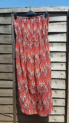 size 16 New Look knee length strapless maxi dress