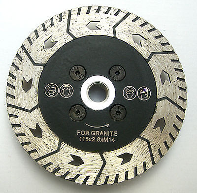 """4.5"""" 115mm PROFESSIONAL diamond blade, disc for cutting, grinding granite,marble"""