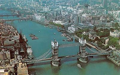 England Aerial View of Tower Bridge and the City of London
