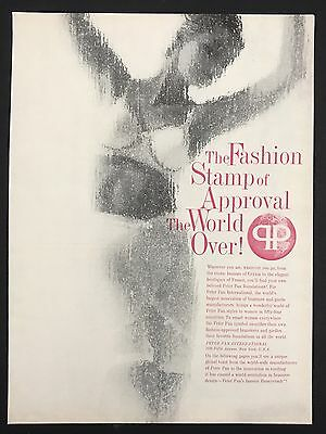1960 Vintage Print Ad 1960s Fashion Style PETER PAN FOUNDATIONS Bra Underwear