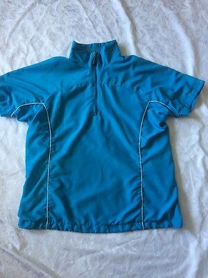 Ladies Windproof Golf Top - Size 16/18 - Bright Blue - Windcheater