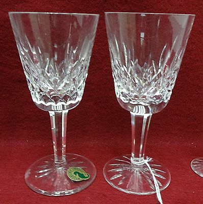 """WATERFORD crystal LISMORE Claret Wine Goblet or Glass - Set of (2) Two - 5-7/8"""""""