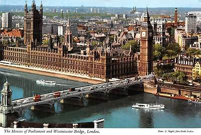 England London The Houses of Parliament and Westminster Bridge