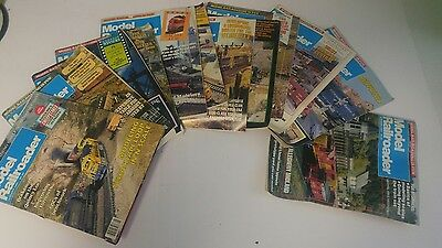 Model Railroader Magazine Lot of 12 Issues From 1987 Complete Year Back Issues