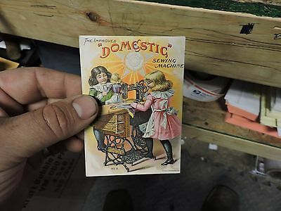 Antique Victorian Trade Advertising Card, Domestic Sewing Machines Greensburg Pa