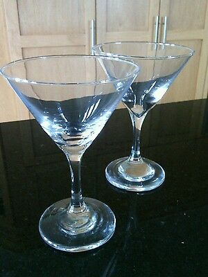 Cocktail Glasses Well Balance Pair Champagne Sophisticated Clear Glass Drink's