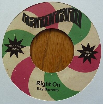"Ray Barretto/latin Brothers - Right On/las Calenas Son Como Las Flores - 7"" Viny"