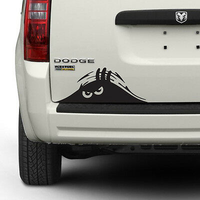 """(2) 9"""" Funny Peeking Monster Scary Eyes Car Vinyl Decal Sticker (Choose Color)"""
