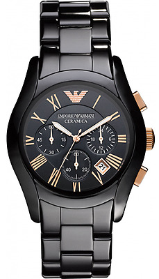 Emporio Armani Mens Ceramic Chronograph Watch Ar1410