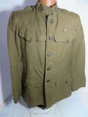 WW1 US Army 3rd Army Uniform Jacket Pvt Rank with Brass 100% original