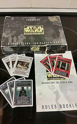 Star Wars CCG Premiere Game 1996. Full Decks 120 cards Rares & Unique. Boxed.