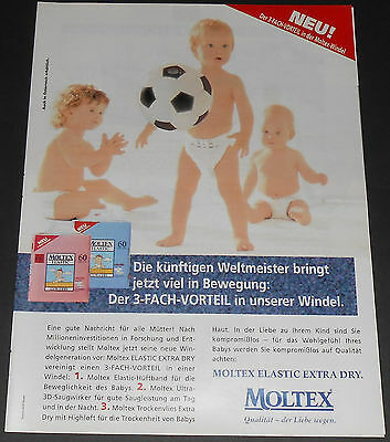 1997 vintage ad - MOLTEX BABY DIAPERS - BOY GIRL GERMANY 1-PAGE PRINT ADVERT