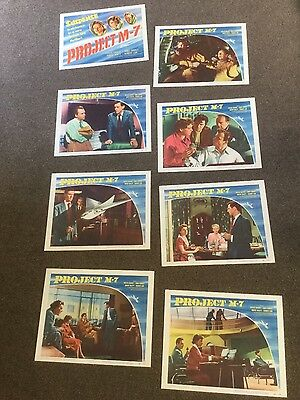 """""""Project M-7"""" 1953 Sci-Fi movie vintage lobby cards x 8"""
