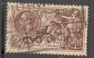 King George V - SG 450 - 2s 6d - Chocolate Brown - Re-engraved Seahorse