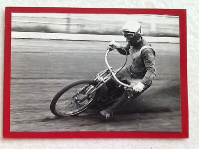 Action Photo Of Speedway Rider Of The Fifties