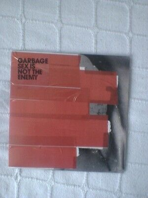 """Garbage Sex Is Not The Enemy 2 Track White Vinyl 7"""" Single"""