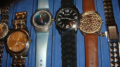 /trade Only Job Lot Of 10 X  Mixed Names  Watches 100% Gen <<<.,,/