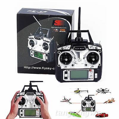 2.4G 6 Channel Transmitter+Receiver Radio Control for RC Helicopter Flysky FS-T6
