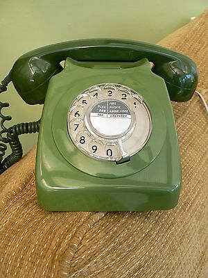 GPO Rotary Dial '746' Telephone in Green - Converted