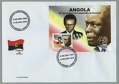 Angola 2015 - 40th Anniversary of Independence - FDC w/ S/S