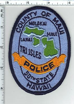 County of Maui Police (Hawaii)  Shoulder Patch - new from the 1980's