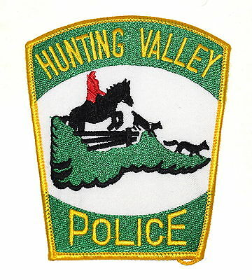 HUNTING VALLEY OHIO OH Police Sheriff Patch HUNTER JUMPER HORSE FOX FENCE ~