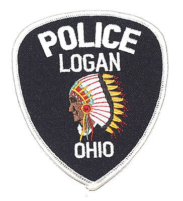 LOGAN OHIO OH Police Sheriff Patch INDIAN NATIVE AMERICAN CHIEF ~