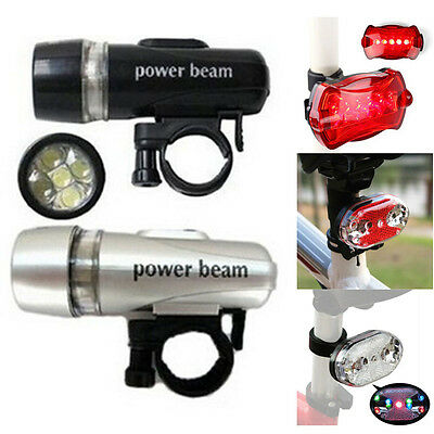 Bicycle LED Lights Torch Bike Front Cycle Headlight Rear Cycling Safety Light