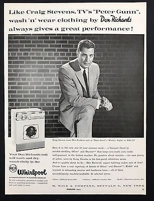 1960 Vintage Print Ad 1960s WHIRLPOOL RCA  Washer Dryer Appliance Home