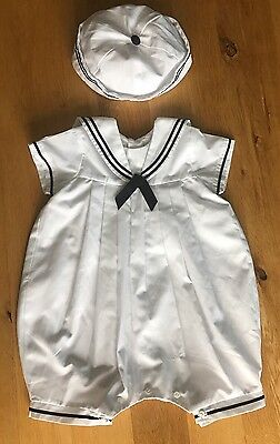 Baby Sailor Suit By Sarah Louise Christening/Wedding 6 Months
