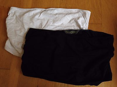 Maternity bump bands 2 pack white & black Mothercare Blooming Marvellous Size S