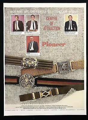 1960 Vintage Print Ad 1960s PIONEER Fashion Belts Men's Fashion Style