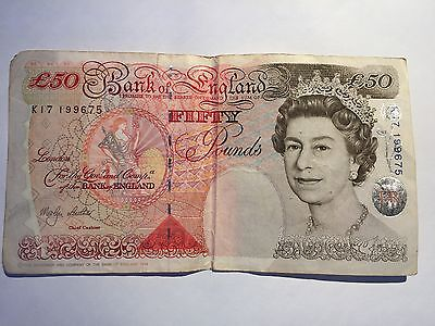 Bank of England 50 Pounds Old Note