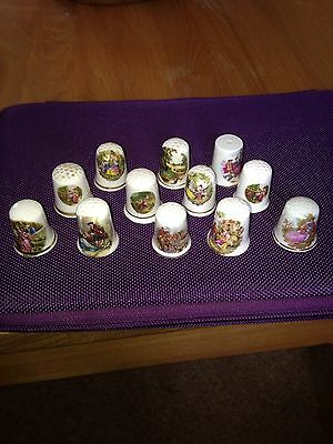 Old World Scene Thimbles