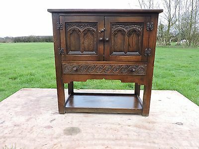 Small Carved wooden sideboard