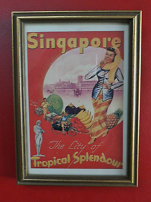 Antique City of Singapore Tropical Splendour Postcard ex Raffles Hotel Singapore