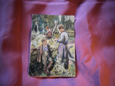 Vintage Post Card Hop-Picking Family Laura Knight