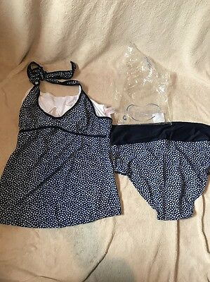 Women's Maternity Jojo Maman Bebe Tankini With Holster Neck Large