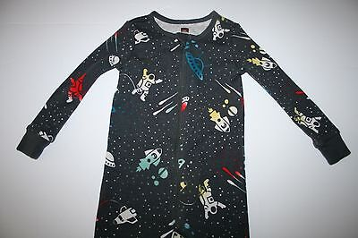 EXC Cond! Tea Collection Zipper Pajamas 12-18M Outer Space Astronauts Planets