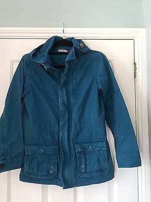 M & S Boys Age 11-12 Blue Hooded,   Cotton Jacket
