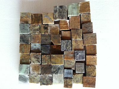 50 CUBES, Soapstone for carving, sculpture grade, block, slabs, tobacco pipe,