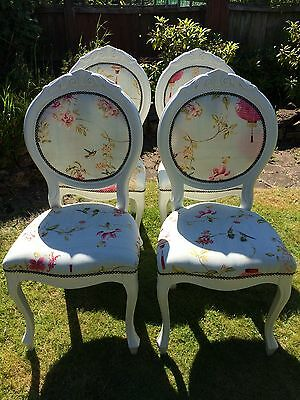 Shabby Chic, Vintage, French Style Louis Rococo, Dining room chairs x4