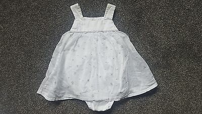 Elle Baby Girls Dress With Romper Suit Age 3 Months