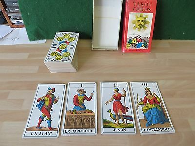 RARE Vintage 1970 AG Muller 1JJ 78 Tarot Cards Deck Made In Switzerland COMPLETE