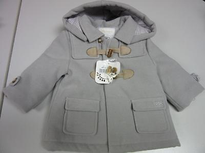 NEWBORN MAYORAL Gray Toddler Boys Coat Size 4-6 M - NWT
