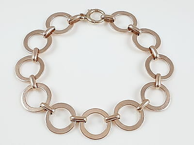 Antique Edwardian 9Ct Rose Gold Fancy Link Bracelet Circa 1910
