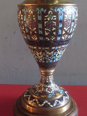 Rare Lampe A Petrole Emaux Cloisonnes Emaux Champleves 19 Eme Siecle Lamp